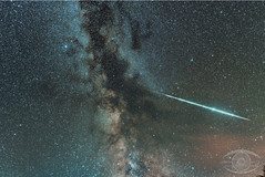 Fireball Across the Milky Way (Dark Arts Astrophotography) Tags: astrophotography astronomy space stars galaxy milkyway night nightscape nebula nature natur meteors meteor shootingstars fireball kingston kingstonist ontario astrometrydotnet:id=nova1707836 astrometrydotnet:status=solved