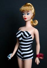 Black & White Bathing Suit Barbie Doll (Emily-Noiret) Tags: black white bathing suit barbie doll mattel
