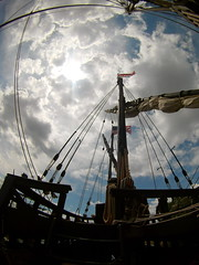 (theleakybrain) Tags: mokacam4k 20160716133719 mokacam columbus ships hudson wisconsin nina pinta tall wideangle actioncam indegogo