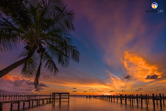 Florida Life: Seminole Sunset (Thncher Photography) Tags: sony a7r2 sonya7r2 ilce7rm2 zeissfe1635mmf4zaoss fx fullframe scenic landscape waterscape nature outdoors sky clouds colors sunset shadows silhouettes fishing piers beach tropical island palmtrees reflections hutchinsonisland stuart palmcity martincounty florida southeastflorida