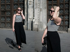 Explorer by Sophia, 23 year old girl from Berlin, Germany (9lookbook.com) Tags: barcelona chic city comfortable look monochrom pants top love