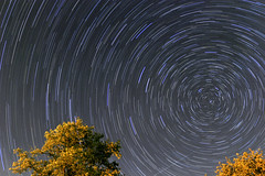 Startrails & ISS pass (spidey_86) Tags: star trails iss longexposure