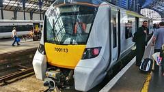 Thameslink 700113 at Brighton. (ManOfYorkshire) Tags: class700 gtr thameslink railway train brighton station platform driver staff snake 700113 govia terminus