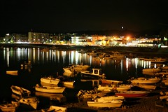 La citt riflessa sul porto  (alessandrociacci1) Tags: port night boat lights sea catanzaro calabria