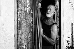 . (Mario M.) Tags: portrait fiumeazzurro agosto2016 bw bnw bn people man