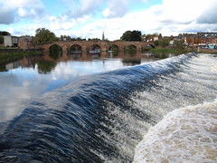 The Caul at Dumfries (Tony Worrall Foto) Tags: uk nature wet water beauty river flow scotland town nice stream waves north scenic scene scotish weir dumfries froth the caul rivernith colloquially 2012tonyworrall dumfriesriver