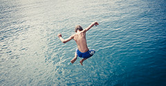 the human body (creativephil) Tags: summer jump body human gardasee moodcreations