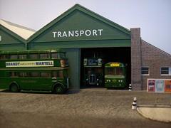 Chelsham bus garage (kingsway john) Tags: kingsway models diorama 176 scale card model efe london transport bus museum transportfest londontransportmodel oo gauge miniature
