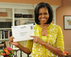 Michelle Obama votes by mailOctober 15th (Barack Obama) Tags: dc washington unitedstates michelleobama