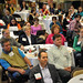 Conference attendees listen to remarks by Leo M. Lambert, President, Elon University.