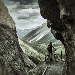 The view (Kaspartheater) Tags: bike panasonic mtb engadin sesvenna m43 uina gf1 m43ftw