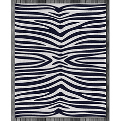 Zebra Wool Rug in Ink and Natural (on wood) (PURE Inspired Design) Tags: customfurniture organicfabric ecofriendlyfurniture woolrugs