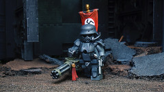 The Nazi S.S. Doomtrooper ([N]atsty) Tags: red brick toxic cat toy army grey gun lego mask flag awesome nazi ss ground battle gas seal gasmask minifig custom minigun minifigure the doomtrooper brickarms minifigcat