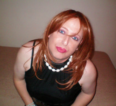 9-28 066 (MaryAnn Ginger) Tags: black hot sexy dress cd redhead tgirl tranny crossdresser crossdress classy