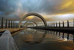 Increasing and decreasing circles (explore) (kenny barker) Tags: sunset lumix scotland canal falkirk falkirkwheel panasoniclumixgf1 welcomeuk kennybarker