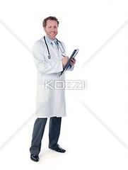 young doctor making a report (peoplerene2012) Tags: portrait man male smart smiling standing pen writing photography holding uniform fulllength handsome happiness professional indoors whitebackground doctor medicine studioshot youngadult adultsonly stethoscope oneperson frontview caucasian occupation expertise clipboard reports toothysmile laboratorycoat medicalinstrument colorimage lookingatcamera oneyoungmanonly onemanonly generalpractitioner healthcareandmedicine professionaloccupation healthcareworker 2529years medicaloccupation