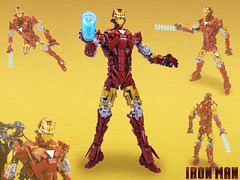 The Invincible Iron Man! (Brickthing) Tags: action ironman suit armor figure marvel stark bionicle armour moc warmachine mk6 herofactory arsoairport berkbeams