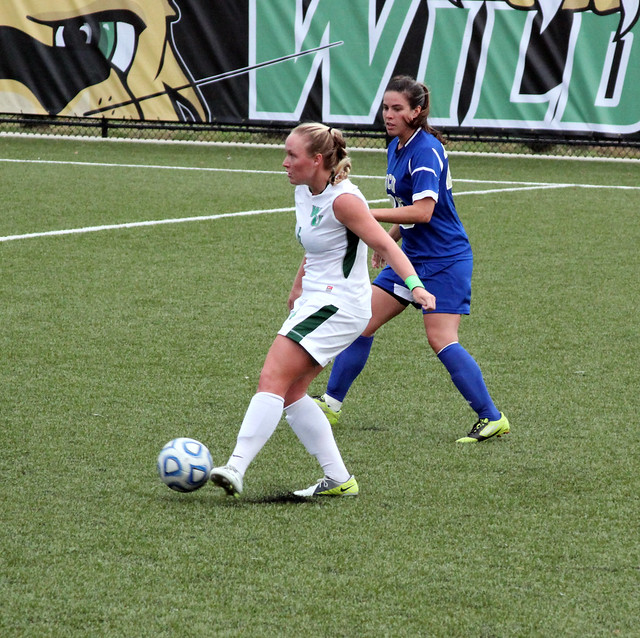 Senior Brittany Rhodes picked up the assist on Morgan Fraczkowski's goal in the sixth minute against Felician