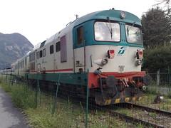 D 345 1144 a Varallo Sesia (VC) (LUCAE656) Tags: espresso trenitalia treni rfi d345 unitalsi trenodeipellegrini locomotoridiesel