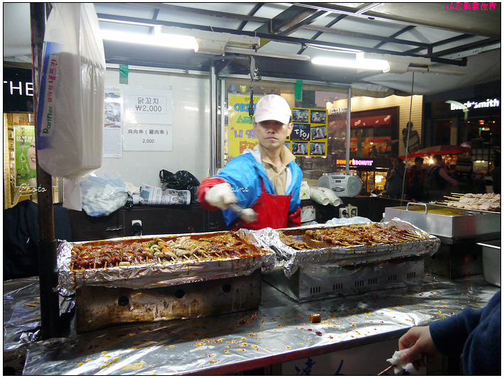 梨花女子大學主街吃小吃