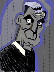 Boris Karloff - pen only  -challenge (Cowgirl111) Tags: art digital pen painting drawing finger only boris challenge iphone ipad karloff sketchclub