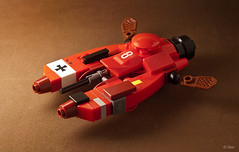 "Pkf.85 Falke - ""The Red Baron"" (_Tiler) Tags: lego aircraft mini vehicle speeder mak redbaron moc falke theredbaron maschinenkrieger hoovercraft miniscale pkf85falke"