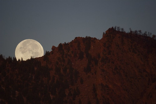 Full Moon and remnants of the Flagstaff Fire
