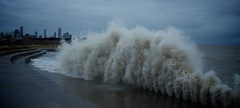 Sandy and the City (Philocycler) Tags: lakemichigan chicagoist chicagolakefront chicagoreader hugewaves stormofthecentury massivewaves hurricanesandy remnantsofhurricanesandy sandyandthecity