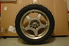 2013-01-05 FirstStudMounted_08 (Absinthe-N-me) Tags: subaru iceracing studdedtire