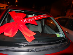 Presents!! (betterwithhugs) Tags: birthday new red car shiny week1 presents bow yaay yaaay 52in2013