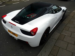 Black & White (BenGPhotos) Tags: white black london sports car italian italia ferrari exotic supercar v8 spotting 458 f1sul