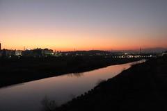 関戸橋からの夕景