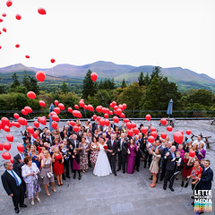 Balloons Group (Lette Moloney) Tags: ireland wedding red mountains cute canon photography interestingness media couple view shot release group explore tipperary marraige baloons limerick munster lette moloney glenofaherlow 5dmkii lettemoloneymedia