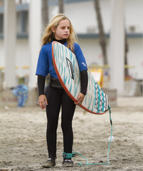 Chilly Grommet (rickpawl) Tags: california girls smiles surfing surfboard blonde surfers grommet wetsuits groms surfcompetition