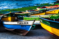 Composition of Fishing Boats (galvanol (away for some time)) Tags: ocean africa light water port canon coast boat seaside fishing harbour atlantic fishingboats atlanticocean caboverde capeverde santoantao pontadosol kapverden santoanto canonef70200mmf4lisusm travellingphotography