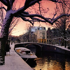 Twinkling winter light dangle over the canals of Amsterdam (Bn) Tags: world street trees windows winter light sunset people house snow cold holland heritage church water netherlands dutch amsterdam weather bike corner walking frank anne lights boat canal cozy cool topf50 colorful jan snowy walk bikes atmosphere twinkle scooter file canals unesco romantic prinsengracht snowfall topf100 mokum dangle rembrandt topf200 gezellig cafs jordaan westertoren pakhuis lange westerkerk wester reguliersgracht celcius grachtengordel rondvaartboot 1000km 100faves 50faves 200faves grachtengordelwest
