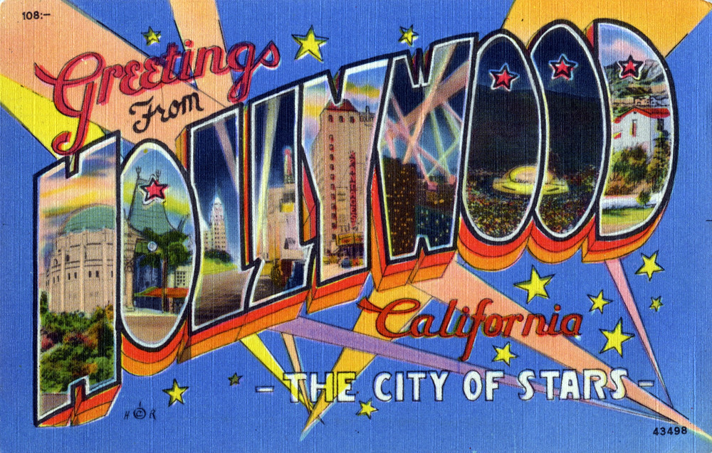 The worlds best photos of california and greetings flickr hive mind greetings from hollywood california the city of stars large letter postcard shook m4hsunfo