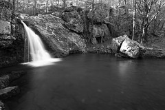Falls Creek Falls II (clay.wells) Tags: park winter light white lake black nature monochrome creek canon lens photography waterfall natural state zoom outdoor mark clayton january wells falls catherine ii eod 5d arkansas usm ef 1740mm f4l img0128 2013