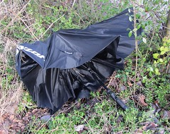 Wind and rain again! (wonky knee) Tags: abandoned rain umbrella wind shrewsbury insideout parapluie regenschirm ukshropshire