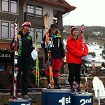 Sarah Lepine took the gold on day two at Copper Mountain Ski Cross Nor-Am.  India Sherret earned the silver. PHOTO CREDIT: BC Ski Cross