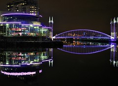 salford quays (plot19) Tags: uk bridge light england night manchester nikon shot britain north quay trafford salford quays lowry jan4 plot19 mygearandme blinkagain