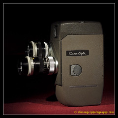 CANON EIGHT. 1 (adriangeephotography) Tags: camera old classic film leather vintage movie photography early antique cine collection chrome adrian gee 8mm 16mm array fujis5pro 55f28micronikkor colllectable adriangeephotography