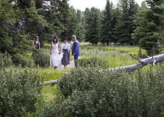 Here comes the bride (nicoangleys) Tags: sotowedding wedding tetons family