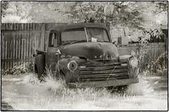 Chevy 3100 (NoJuan) Tags: olympusep5 irconversion infrared infraredconversion bw blackwhite blackandwhite chevrolet chevytruck chevy 45200mmpanasonicvario