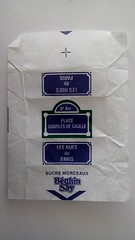 Srie Rues de Paris 01 - Place Charles de Gaulle 01 (periglycophile) Tags: paris france sugar cube packet say rues sucre morceaux sucrology beghin priglycophilie