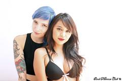 Alhy & Wolf ( Johanna Najera  oni hime cat ) Tags: hopeful suicidegirls mexicansuicidegirls latina girls les nude boobs bluehair naked