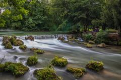"""Small waterfall """"Eisbach"""", Munich (ME Photography (Moritz Escher)) Tags: longexposure canon canoneos50d munich münchen natur nature englischergarten park water waterfall"""