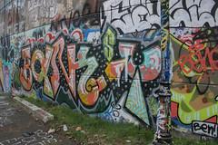 Banksy (NJphotograffer) Tags: graffiti graff new jersey nj bumtrail riverwalk banksy