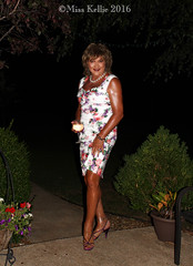 Wine Wiggle (Miss Kellie Keene) Tags: beautiful brunette silver jewelry anklet earrings toering silky smooth tan bare legs pretty polished nails lovely floral print wiggle dress sexy strappy highheel sandals elegant classy stylish transgender woman misskellie