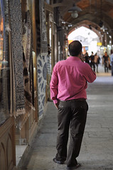 (A.Atena) Tags: iran esfahan naghshejahan bazar man architecture art nikon 55mm pink unesco